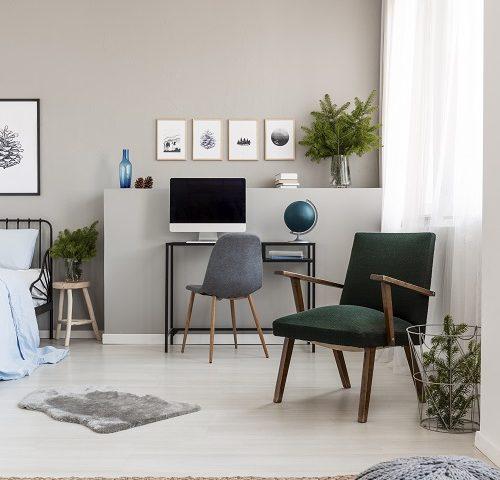 fauteuils et poufs imprimés